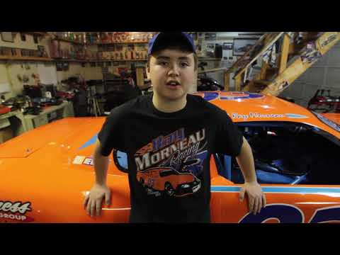 Race car driver feels need for speed