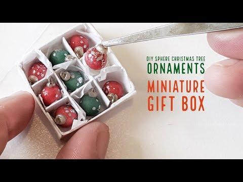 DIY Miniature Sphere Christmas Tree Ornaments Gift Box
