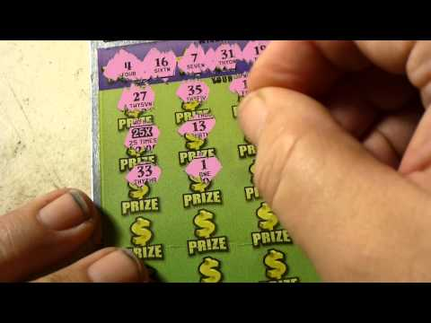 BIGGEST HIT YET!! $25 100X fl lottery scratchoff!