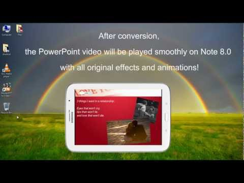 PowerPoint on Samsung Galaxy Note 8.0 - How to Play PowerPoint as HD Video on Galaxy Note 8.0