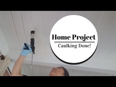 Home Project DIY | Caulking Done