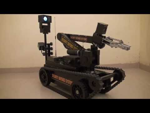 mini rov(robot)made in india. eod robot.