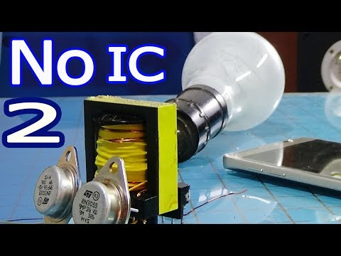 Simple 12v to 220v 110v ac inverter circuit without IC, with pulse transformer in inverter easy
