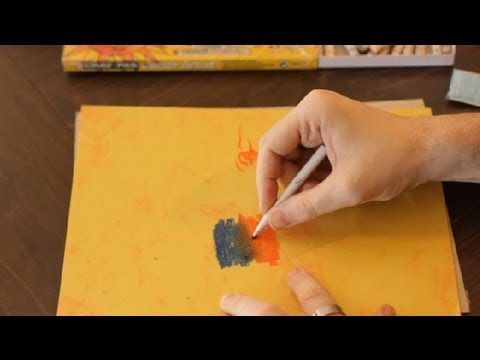The Tortillon & Stump Blending Technique in Pastel Painting : Art Projects