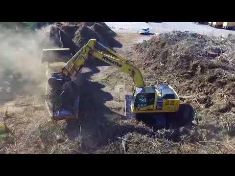 Vermeer HG6800TX Grinder Hurricane clean up