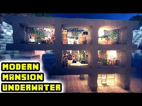 Modern Minecraft Mansion Underwater Tutorial (How to Build)