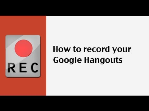 How to Record A Google+ Hangout