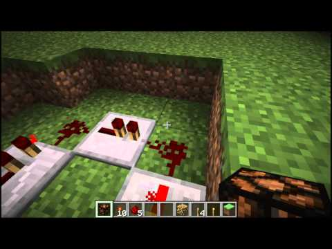 Minecraft (1.2.3) - How to make a redstone lamp creeper  pulser