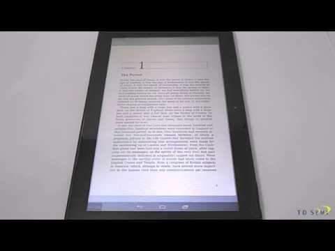 E-book Reading on TD Semi Tron Tab Mega 13.3