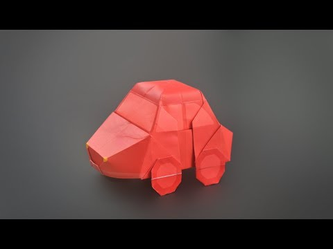 Origami: Car (VW Bug) Instructions in English BR