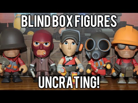 TF2 Unboxing 12 Portable Merc Blind Box Vinyls (Rare Golden Engineer & Cloaked Spy!) @demizegg