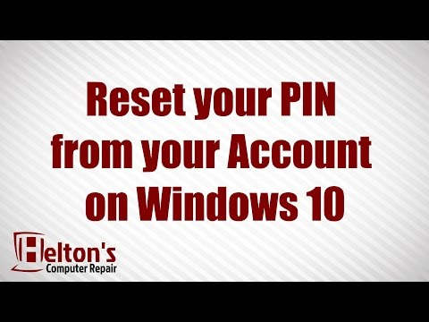 How to Reset your PIN from your Account on Windows 10
