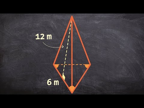 Learn how to determine the surface area of a triangular pyramid