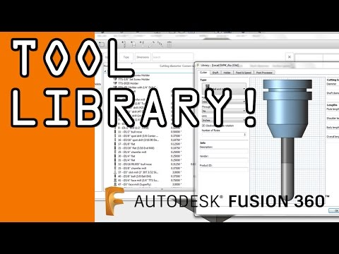 Fusion 360 Tool Library Tutorial - FF58