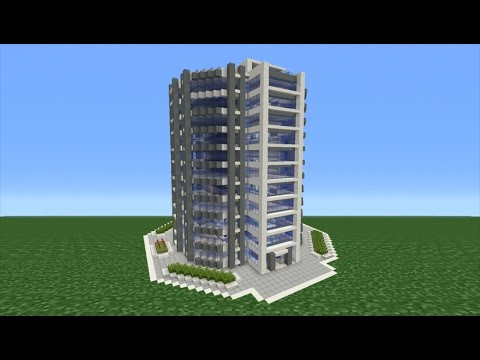 Minecraft Tutorial: How To Make A Modern Skyscraper