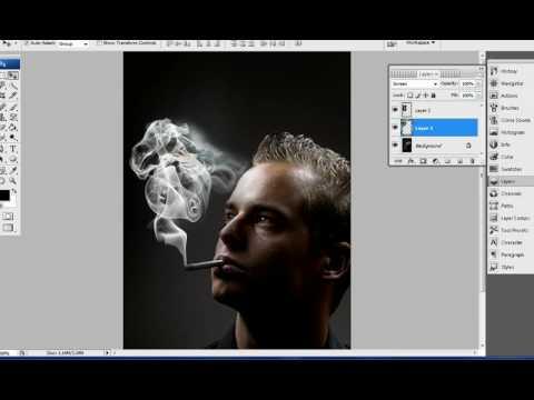 Woman Smoke Tutorial - Photoshop CS3