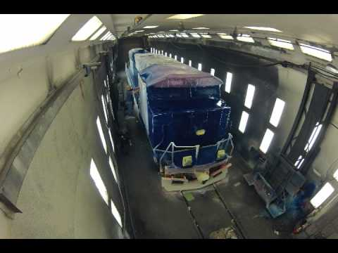 How do you paint a locomotive?