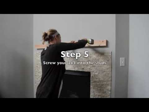 How to Install a Faux Fireplace Mantel | Step by Step