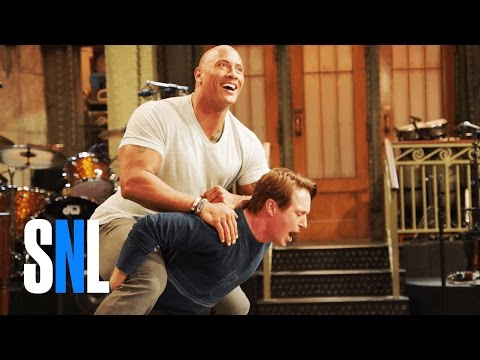 Dwayne Johnson Has the SNL Cast's Back