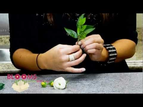 How to Make a Ranunculus Wedding Boutonniere