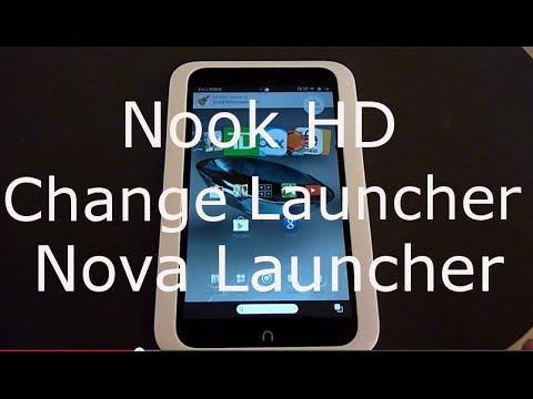 Change Nook HD Launcher ( Interface )