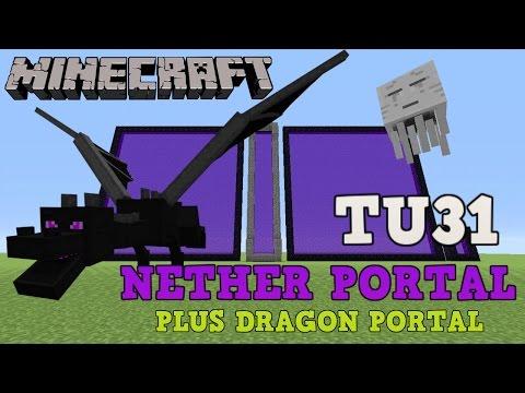 ☑️ MINECRAFT PS4: NETHER PORTAL TITLE UPDATE TU31. XBOX 360, PS3 & Wii U. (DRAGON PORTAL IDEA)