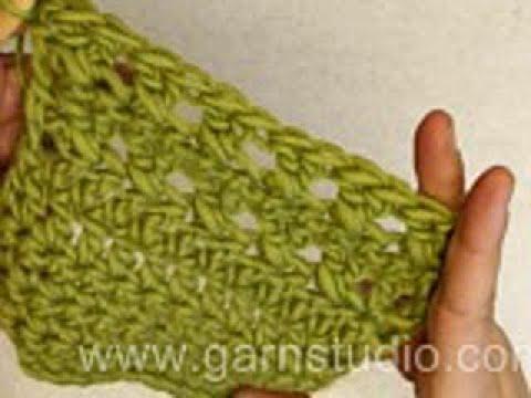How to crochet double cross stitch / treble cross stitch