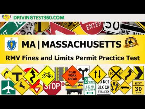 Massachusetts RMV Fines and Limits Permit Practice Test (hardest) - MA RMV practice test