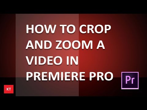 How to crop and zoom a video in premiere pro cc | Premiere pro Tutorial |