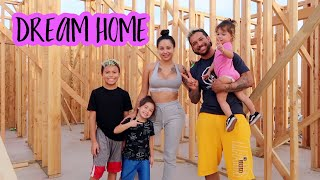 KIDS SEE OUR FUTURE DREAM HOME FOR THE FIRST TIME!! **cute reaction**