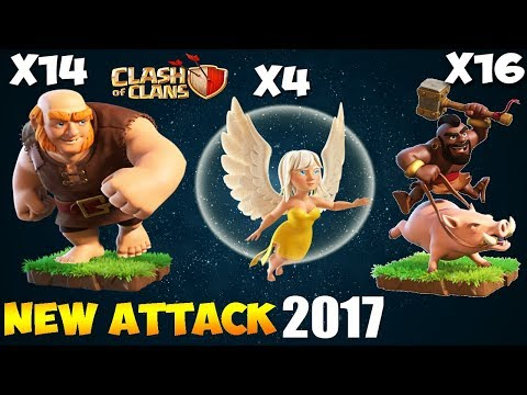 Healer + GIANT + HOGS: HGH NEW TH9 STRONG WAR ATTACK STRATEGY 2017| New HGHB | Clash of Clans