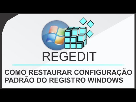 Como recuperar as configurações padrão do Regedit no Windows