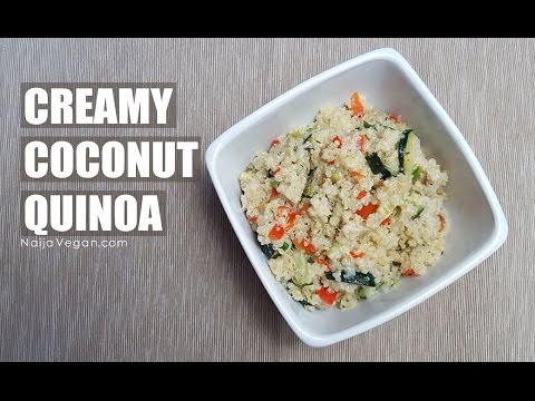How to make creamy coconut quinoa - Naija Vegan