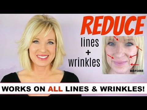 Get RID Of LINES & WRINKLES! WithOUT Fillers OR Botox! (FULL ROUTINE)