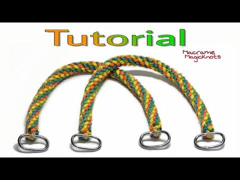 How to Make Easy Macrame Bag Handles DIY  / Spiral Macrame Bag Handles