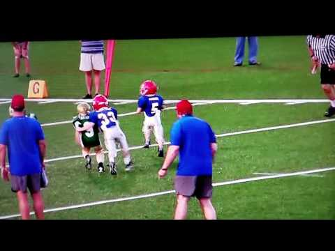 Darius Copeland and Football BIGGEST HITS in youth Pee Wee football hit!