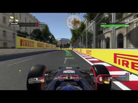F1 2016 Gameplay - Hot Lap - Azerbaijan Circuit