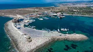 Kato Paphos,Cyprus - A holiday with many attractions .. Beautiful Aerial Video