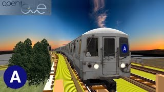 OpenBVE ▻4 Train to Woodlawn!◁ (R142A) - The Most Popular High
