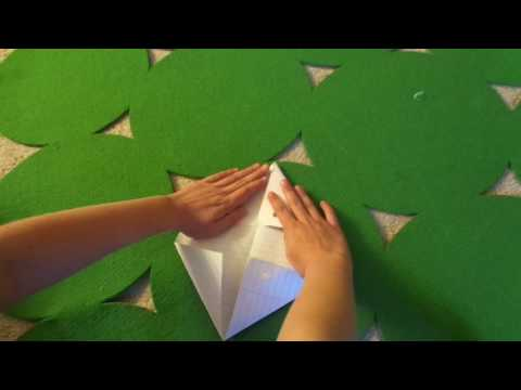how to make a triangle paper popper