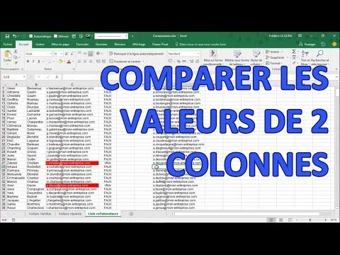 Comparer 2 colonnes dans Excel grâce à la fonction RECHERCHEV