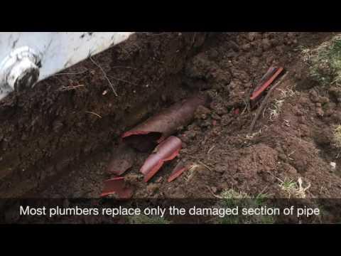 All Star Plumbing   Repairing a Broken Sewer Pipe