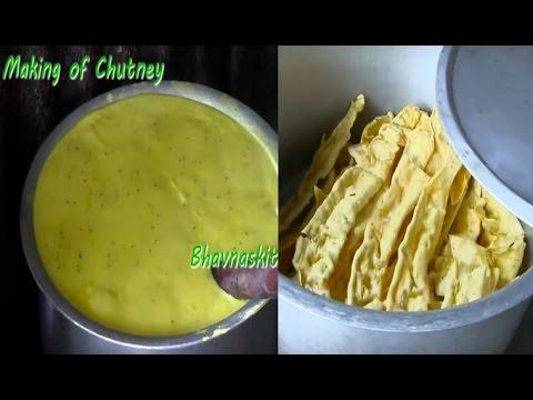 Fafda making Stall with full recipe of Fafda and Chutney by Bhavna