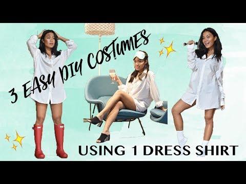 3 Easy DIY Costumes Using 1 Dress Shirt