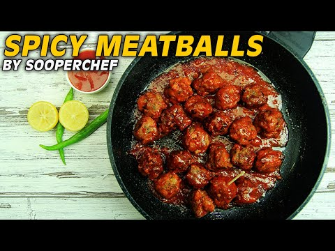 Spicy Meatballs in BBQ Sauce Recipe - SooperChef