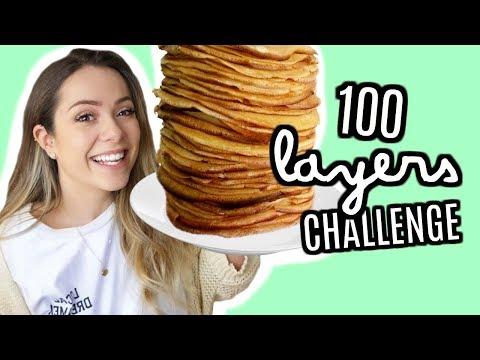 100 LAYERS CHALLENGE - CRÊPES AU NUTELLA // 100 faits sur moi!