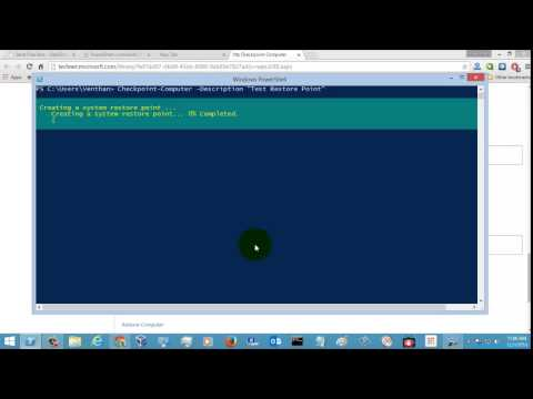 Windows Powershell Tutorial - Checkpoint-Computer