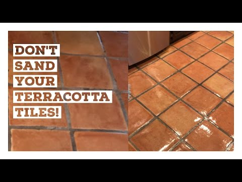 The Effects of Sanding Terracotta Tile and why you should avoid it