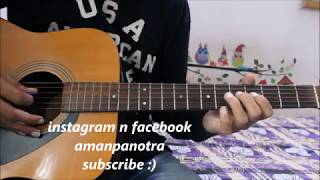 Tu Jo Mila - Acoustic Guitar Cover lesson chords - Simple n Easy