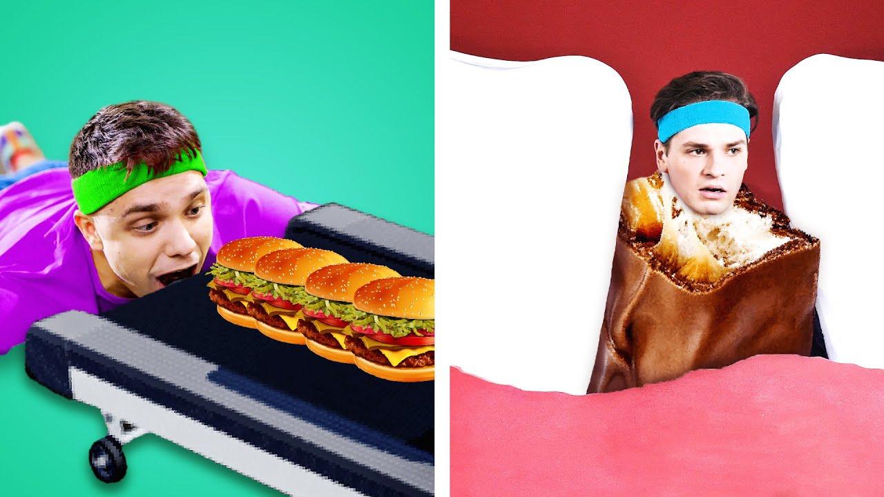 100+ BEST WAYS TO SNEAK SNACKS ANYWHERE! Food Sneaking Ideas & Funniest Situations by Kaboom!